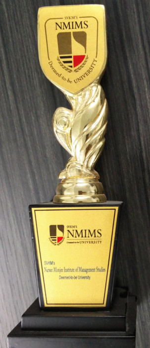 Award for Appreciation by NMIMS Deemed-To-Be University